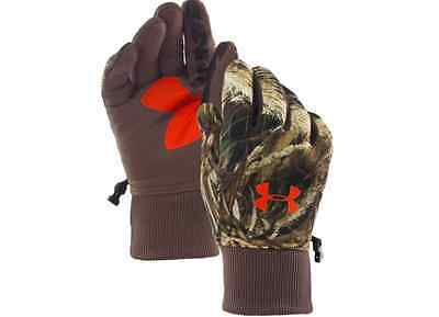 NEW Under Armour UA Scent Control Armour Fleece Camo Hunting Gloves Shooting