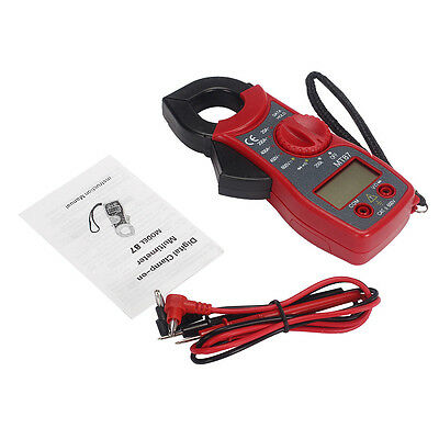 LCD Digital Auto Range Clamp Multimeter Tester AC DC Volt OHM Meter Multimeter