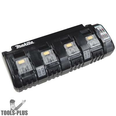 4 port 18 Volt LXT Cordless Battery Charger Makita DC18SF New