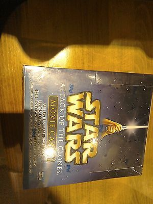 Sealed box of star wars attack of the clones trading cards topps