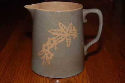 Vintage Cameo Ware Milk Pitcher by Harker Pottery Co.