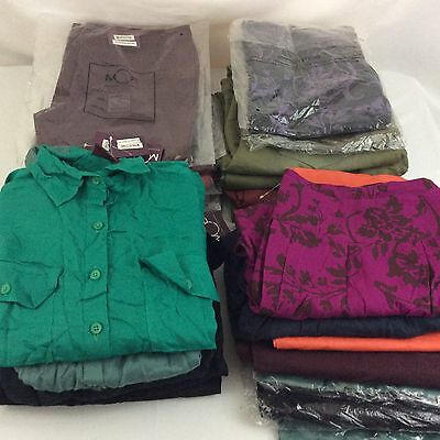 Wholesale Mixed Clothing Lot 26 Pc Ministry Of Fashion Pants Tops Womens Men NWT