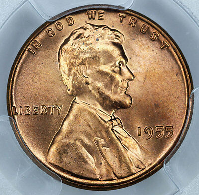 1955 PCGS MS66RD Lincoln Cent