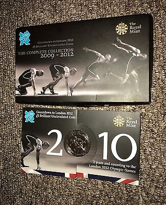 2010 Royal Mint London Olympic 2012 Games Countdown £5 Five Pound BUNC Coin