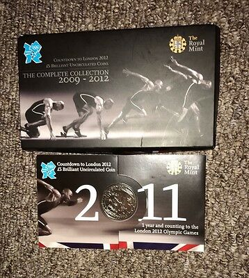 2011 Royal Mint London Olympic 2012 Games Countdown £5 Five Pound BUNC Coin