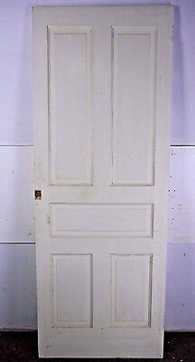 "Antique Vintage 5-Panel Interior Door 79-3/8"" X 30"" X 1-1/8"" (R5)"