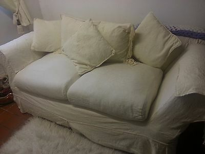2 seater antique drop arm chesterfield