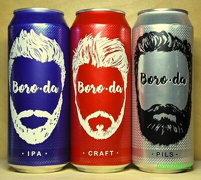 3 Boro-da beer cans 500 ml from Russia 2016
