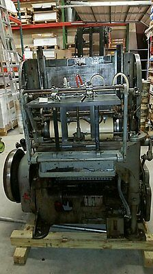 Miehle vertical cylinder letterpress printing press