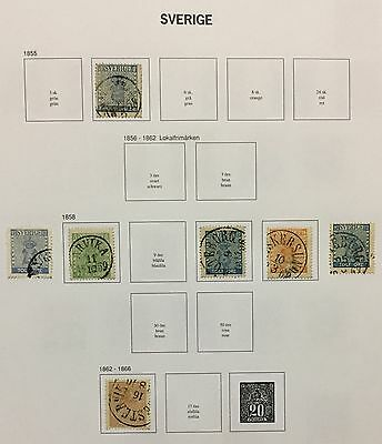 Sverige Sweden 1855/66 Lot Of 7 Used For Description Look At The Picture Rare