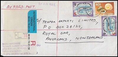 Papua New Guinea Png 1996 Registered Airmail Cover To New Zealand
