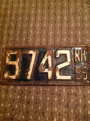 Old Hot Rod Rat Rod USA Number Plate American Licence Plate New Hampshire 1955