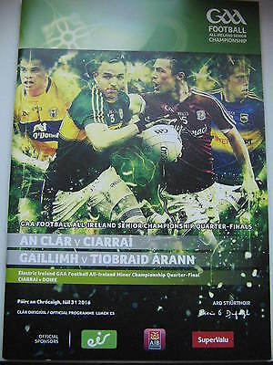 gaa programme  football qtr final 2016 clare v kerry galway v tipperary