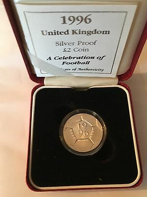 Royal Mint,1996 Euro Football Coin, Silver Proof
