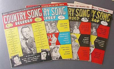 Orig Lot Of Four Country Song Roundup Magazines 1954-#35 1955-#38/39 1956-#43