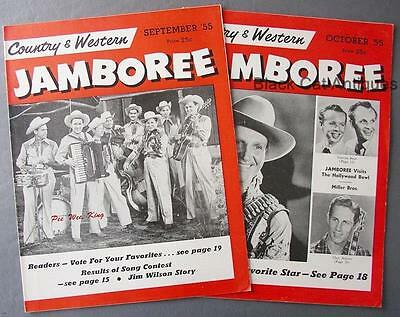 Lot Of 2 Country & Western Jamboree Magazines Sept & Oct 1955 Vol. 1 Nos. 7 & 8