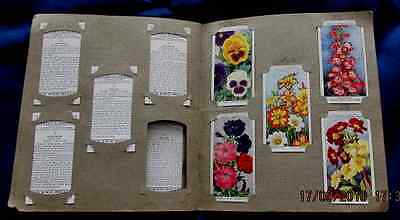 Collectors book of Wills Cigarette cards Wild Flowers 1st Series (2 missing)