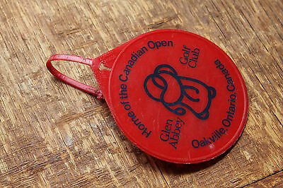 Plastic Glen Abbey Golf Bag Tag Canadian Open (Used) Red