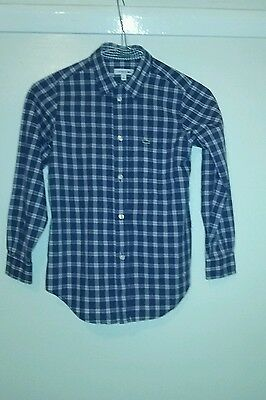 Boys, Lacoste check shirt. 31'' chest
