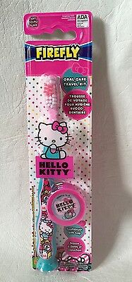 Firefly HELLO KITTY Soft Toothbrush with Cap and suction cup base NEW