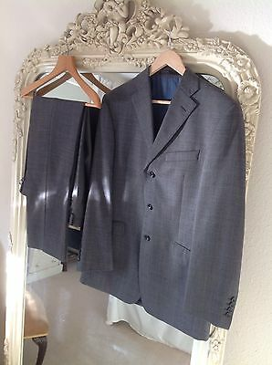 Mens Executive marks and spencer luxury sartorial suit grey check - jacket 38