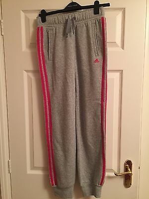 Girls Adidas Grey Tracksuit Bottoms