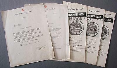 "Original Vintage 1951 ""Orange Crush"" Business Letters/Sell Sheets Lot Of 5"
