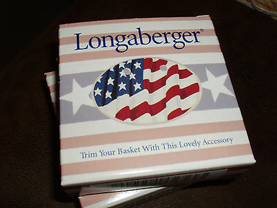 Longaberger All American Proudly American Tie On New in Box
