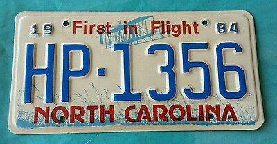 Authentic 1984 Nc North Carolina State Highway Patrol License Plate Hp-1356 Tag