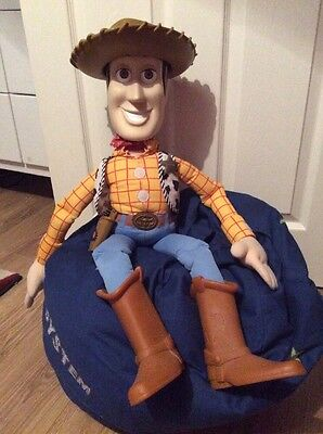 Genuine Toy Story Disney Pixar Giant Sheriff Woody Doll Approx 33inch Rare