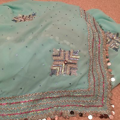 Indian Women's Sari + Blouse Wedding Party Formal Heavy Embroidery