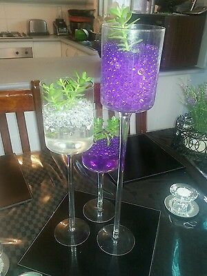wedding candle table center piece - glass