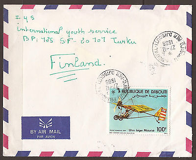 Djibouti. 1989. Air Mail Cover To Finland.