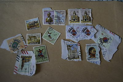 14x ANGOLA 20th Century postage stamps philately postal post mail letter