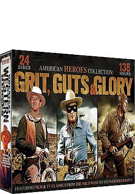 American Heroes: Grit, Guts & Glory Complete Western Collection Box/DVD Set NEW!