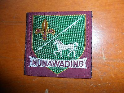 Nunawading District Scouts Cloth Badge -Larger  Version #