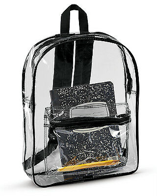7010 Liberty Bags Men's Bookbag Clear Backpack NEW Black One Size