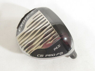 New! TOUR EDGE EXOTICS CB PRO F2 LIMITED 14.5* 3 WOOD -Head Only-