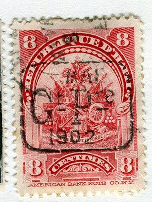 HAITI;   Early 1900s fine 1902 Prov. Govt. Optd. issue used 8c. value