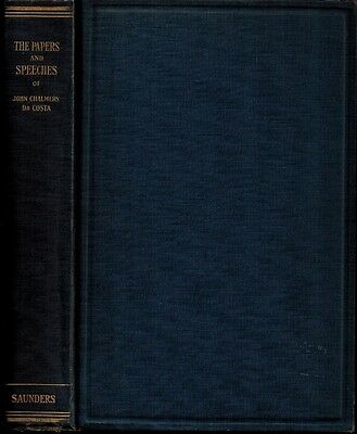 1931 History Medicine, Papers Speeches John Chalmers DaCosta MD Surgeon Surgery