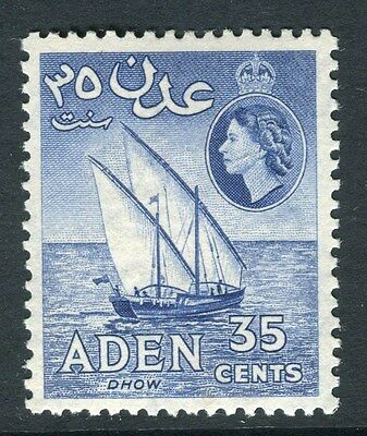 ADEN;  1953 early QEII issue fine Mint hinged 35c. value