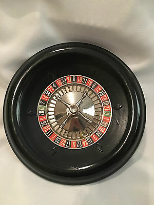 Vintage ES Lowe Gambling Casino / Home Game Small Roulette Wheel