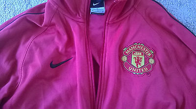 Manchester United Nike Tracksuit Top Jacket Football Soccer Premier League