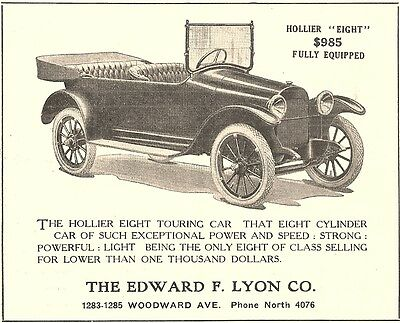 1915 Lewis Spring & Axle Co, Chelsea, Michigan Hollier Automobile Advertisement