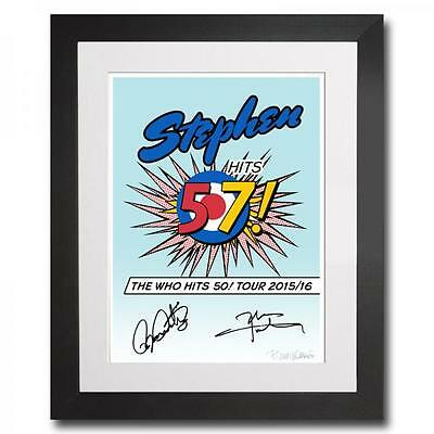 The Who - Personalised Art Print Signed By Roger Daltrey & Pete Townsend