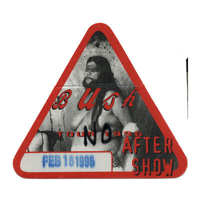 Bush authentic Aftershow 1996 tour Backstage Pass