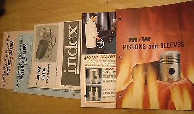 Vintage M&W Piston & Sleeves Brochure Literature Ad