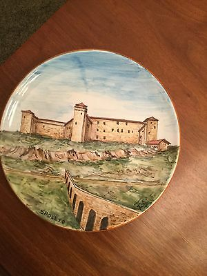 """Spoleto Italy 8"""" Hand Painted Plate Souvenir"""