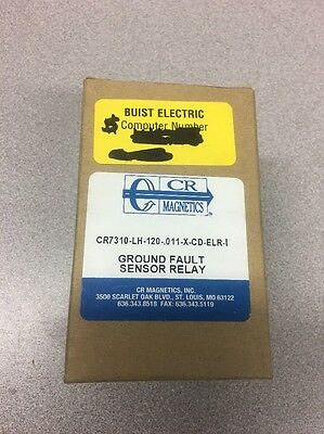 NEW! CR Magnetics Ground Fault Sensor Relay CR7310-LH-120-.011-X-CD-ELR-I
