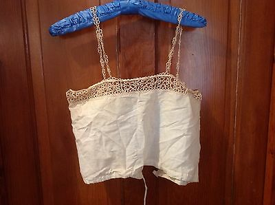 Vintage Women's Cotton And Crochet Camisole Early
